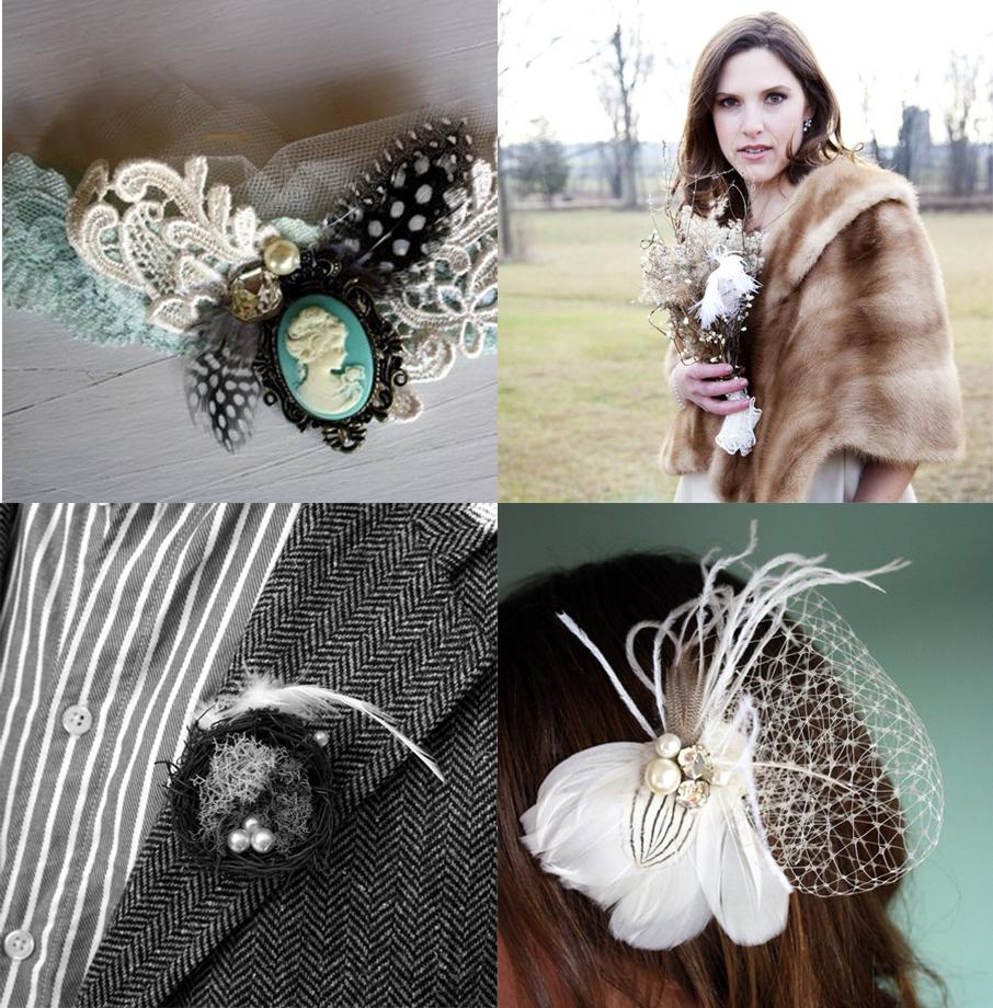 Accessoires für Braut und Bräutigam