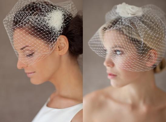 Schleier; Birdcage-Veil; Accessoires für die Braut