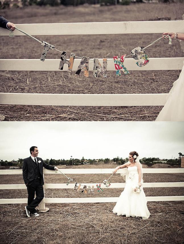 Hochzeit Danksagungsfoto