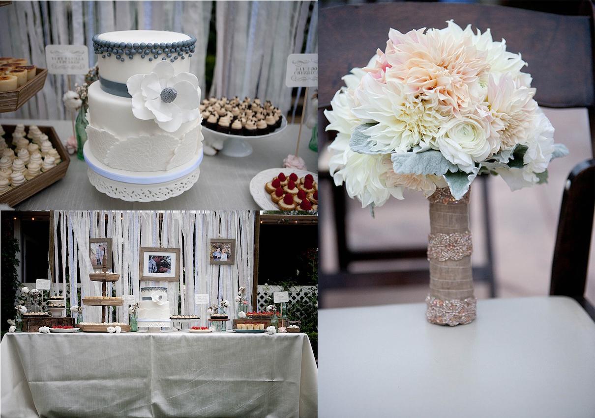 Hochzeit Brautstrauss Dessertbuffet Hochzeitstorte