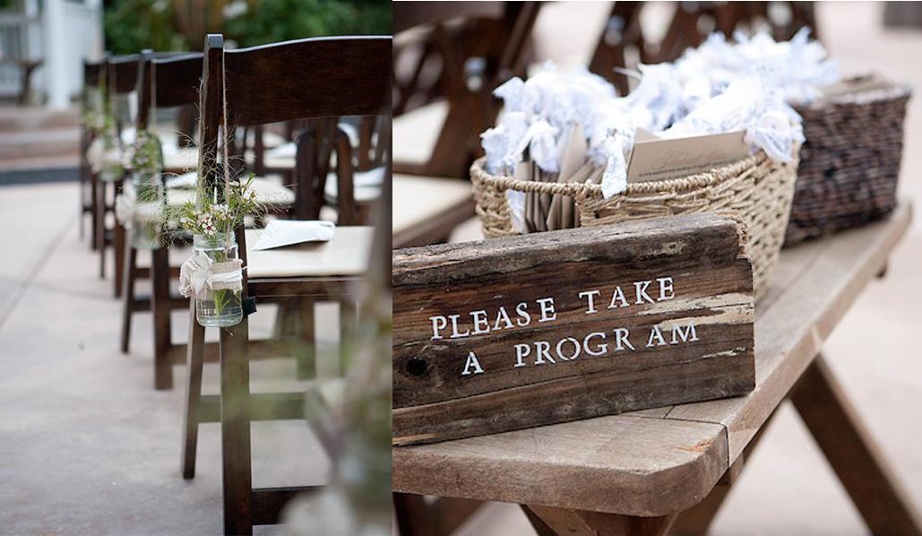 Hochzeit Natur Zeremonie Programm