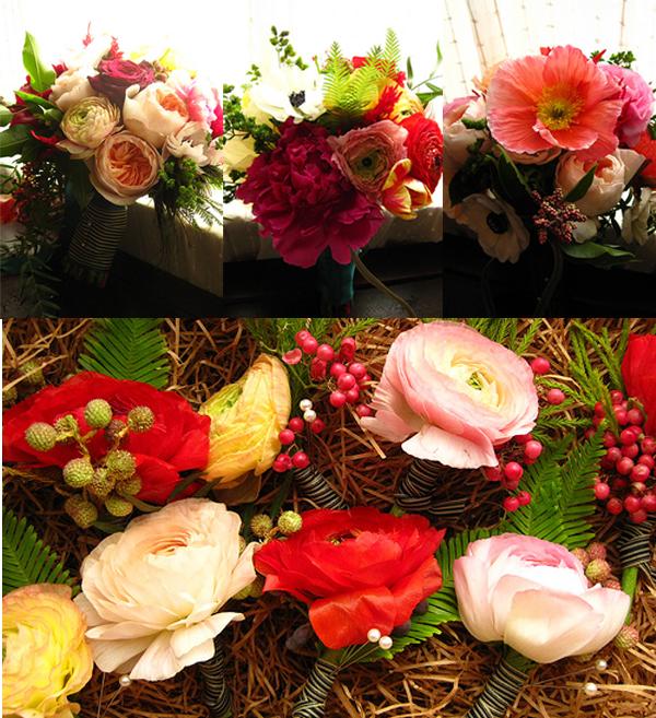 Blumen, Brautstrauß, Bouttoniere