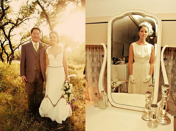 Hochzeit Natur vintage Brautstyling