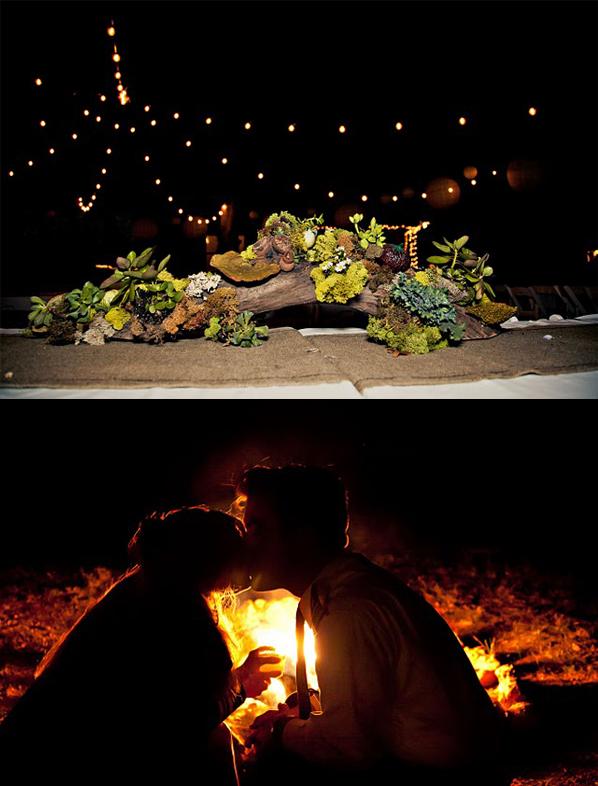 Hochzeit Natur Lagerfeuer
