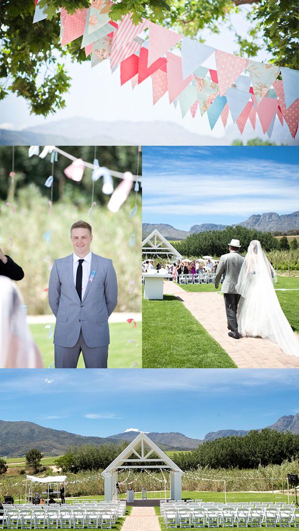 Hochzeit, Trauung, Bekoration, Rosa, Pink, Türkis