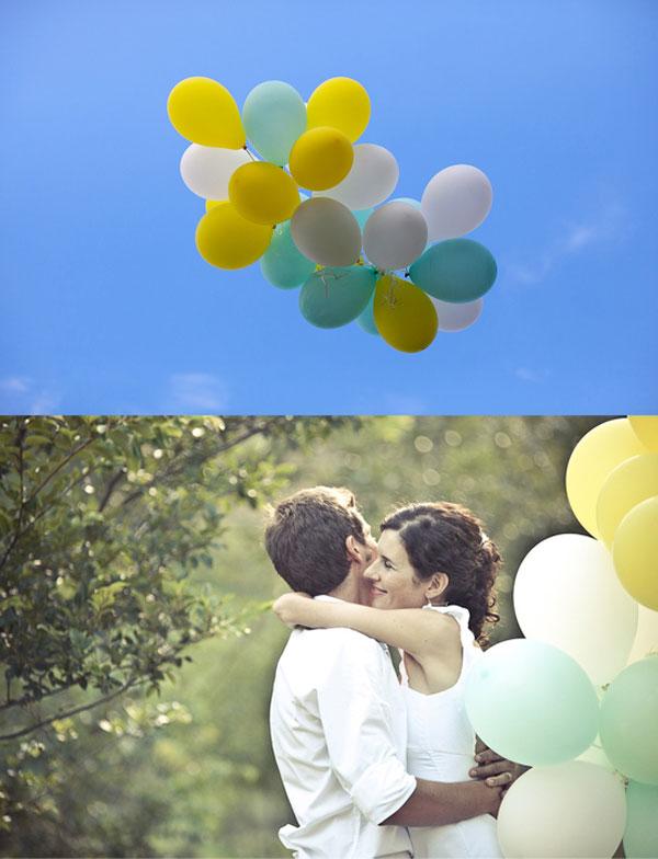 Luftballons Hochzeitsfoto
