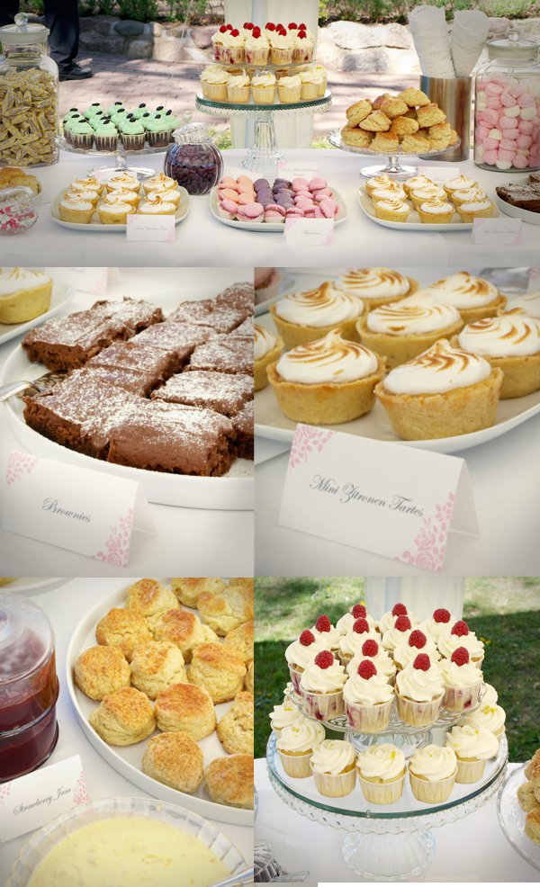 Candy Bar, Hochzeitskuchen, Cupcakes, Tea Party