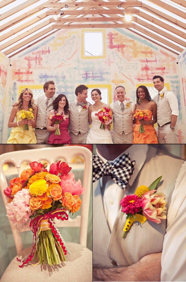 Hochzeit, Brautstrauß, Blumen, Anstecker, Boutoniere