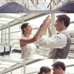 Alex & James: moderne Hochzeit mit Comic-Feeling