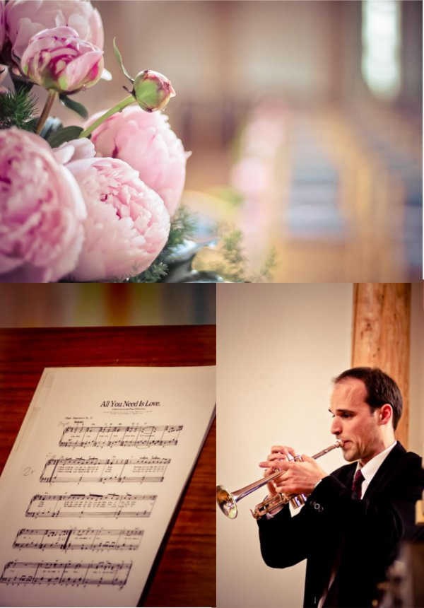 Hochzeit, Kirche, Dekoration, Musik, Auszug