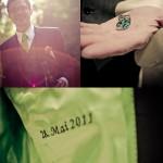 Bea & Olli: Pop-Hochzeit in Grün und Pink
