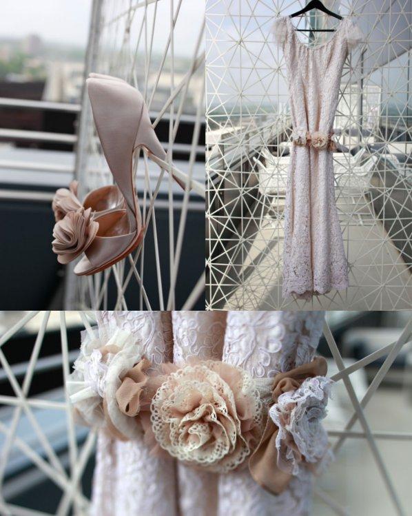 Hochzeitskleid, Spitze