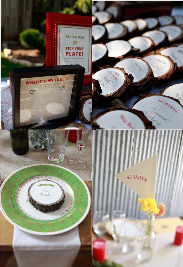 Hochzeit, Tischkarten, Tischdekoration