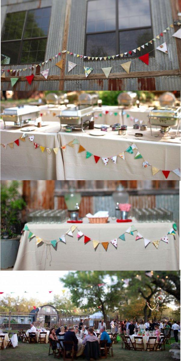 Hochzeit, Dekoration, Girlanden