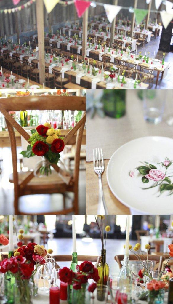 Hochzeit, Tischdeko, Blumen