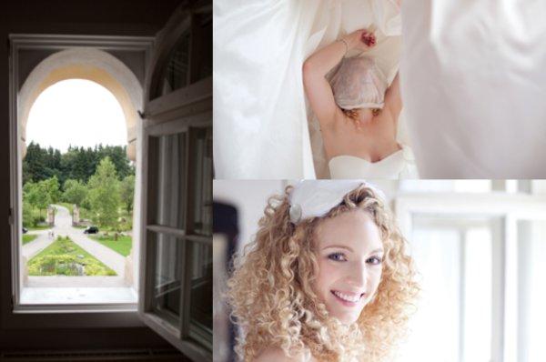 Hochzeit, Ankleiden, Braut, Brautkleid, Harrschmuck