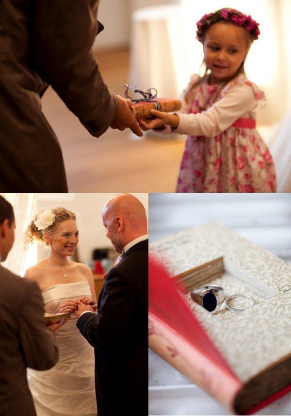 Hochzeit, Trauung, Ringwechsel, ringbearer, Ringkissen