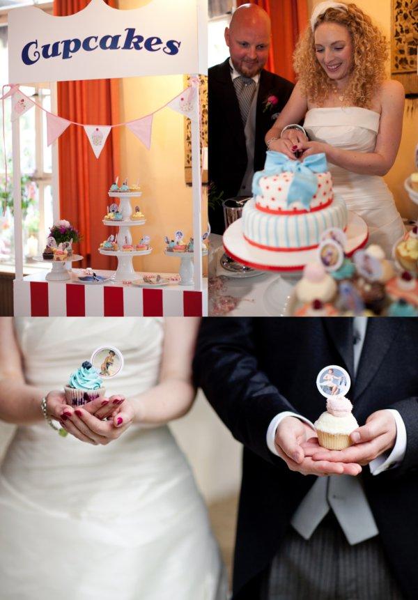 Hochzeitstorte, Cupcakes,Cupcake-Topper