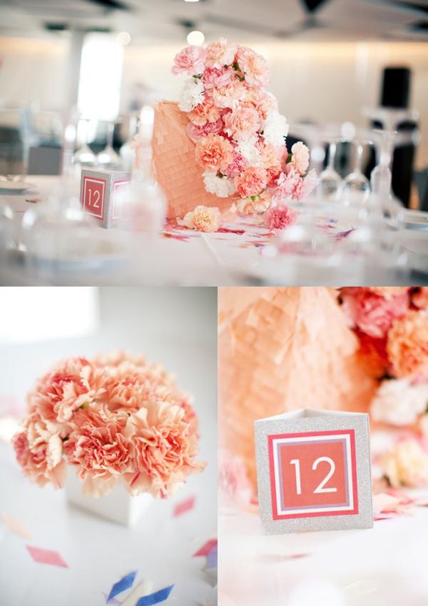 Hochzeit, Tischdekoration, Tischnummern