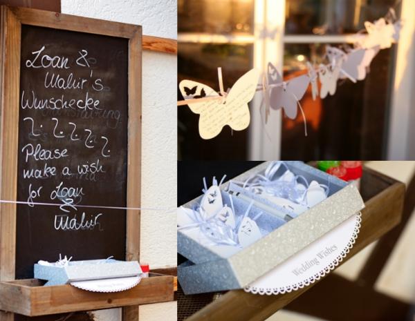 Hochzeit, Gästebuch, Schmetterlinge