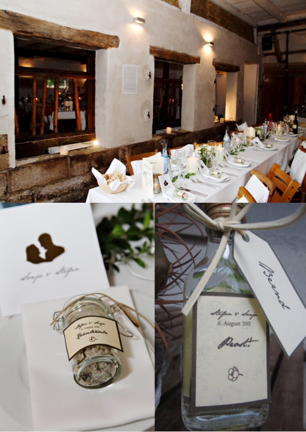 Hochzeit, Tischdeko, Gastgeschenke