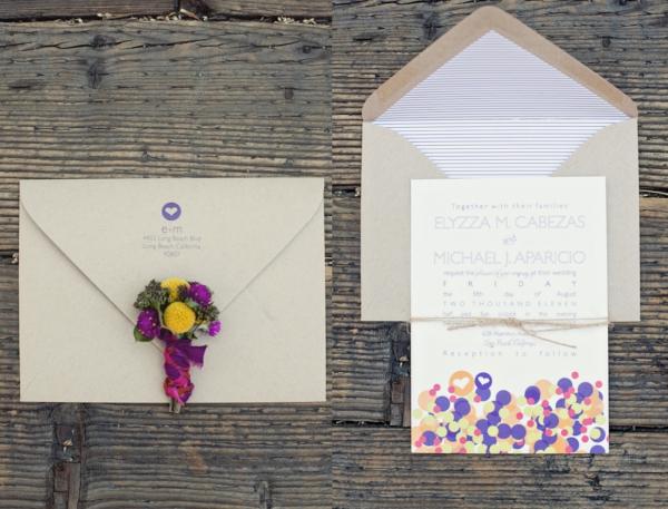 Hochzeit Einladung Konfetti