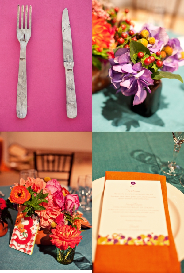 Hochzeit, Tischdeko