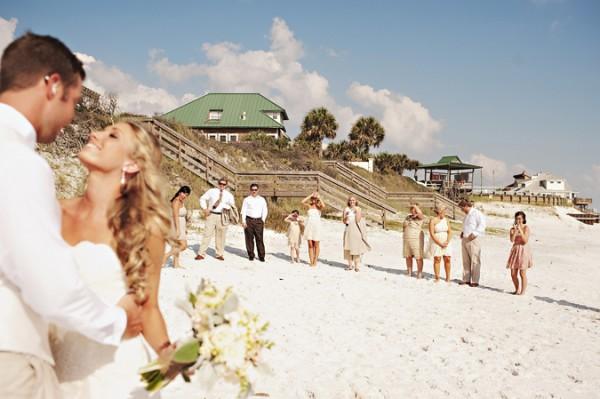 Strandhochzeit, Hochzeitsfoto, Hochzeit am Strand, vintage