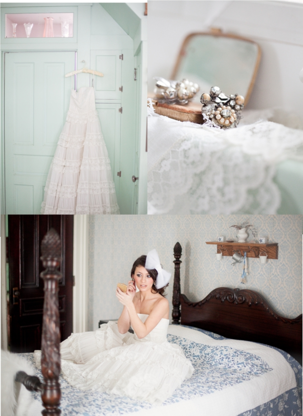hochzeit, kleid, getting ready, Braut, Brautkleid