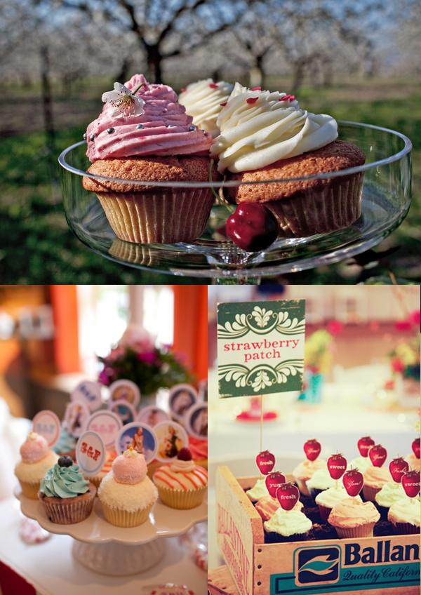 Cupcakes, Hochzeitstorte,