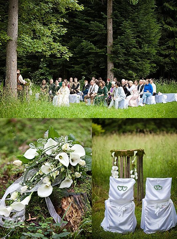 Hochzeit, Trauung, draußen, Wald