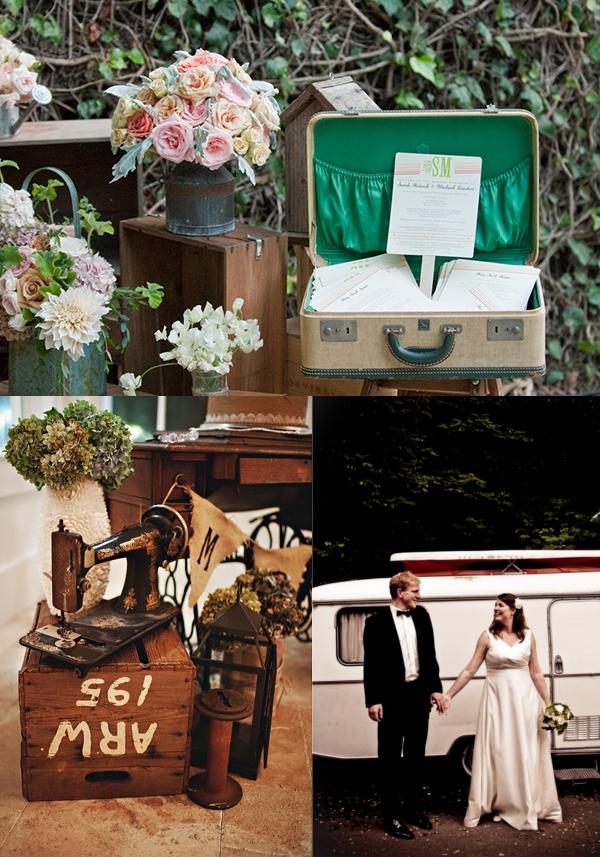 vintage, Hochzeit,