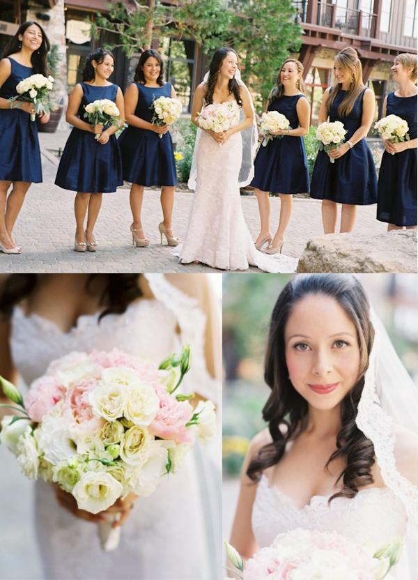 Braut, Trauzeuginnen, Brautstrauß