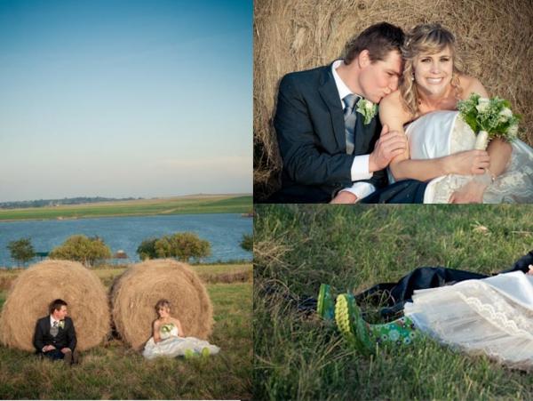 Hochzeitsfotos, Landhochzeit, Gummistiefel