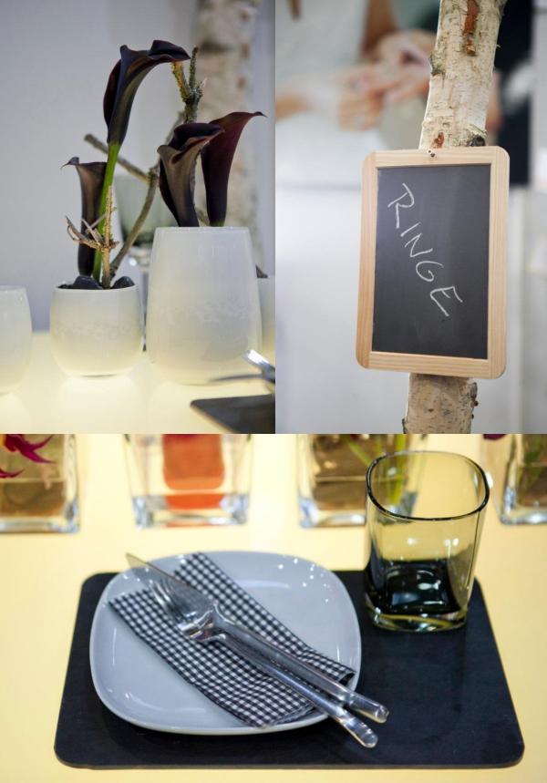 schwarz weiß, Deko, Tischdeko, Tafeln