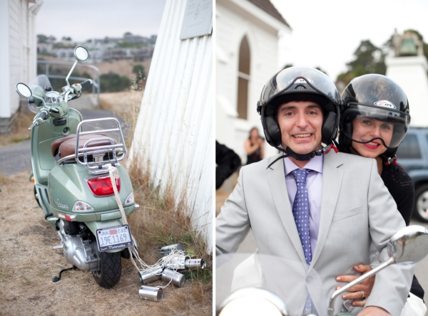 Hochzeit, Hochzeitsauto, Vespa