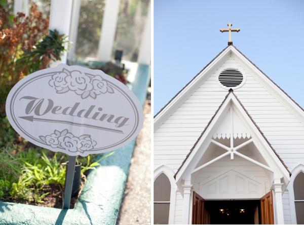 Hochzeit, Kirche, Wegweiser