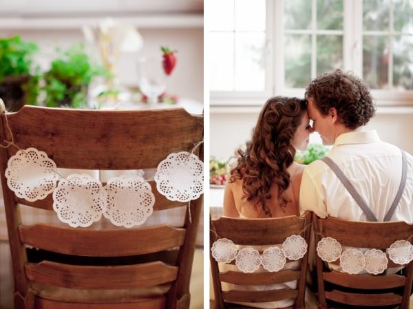 Hochzeit, Stuhldekoration, Brautpaar, italienische Hochzeit