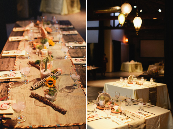 Tischdekoration, Hochzeit