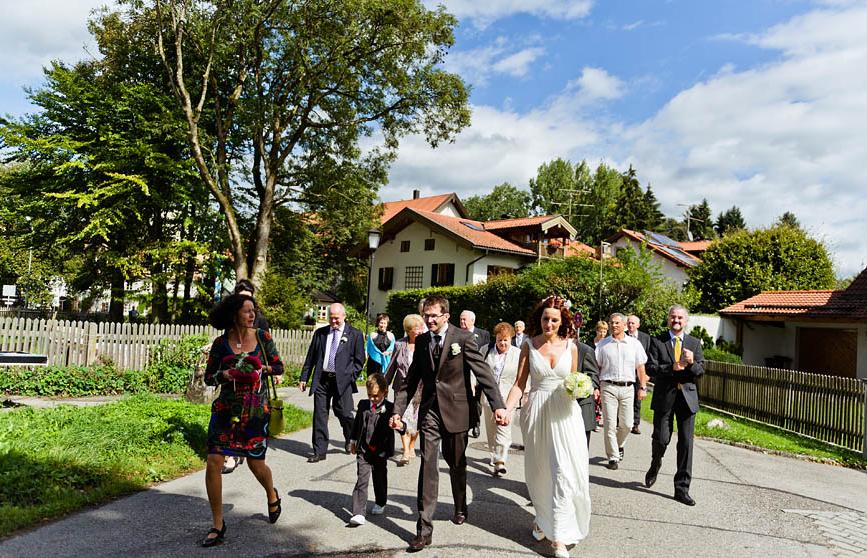 Hochzeit, Brautzug