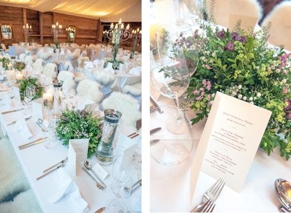 Hochzeit, Tischdekoration
