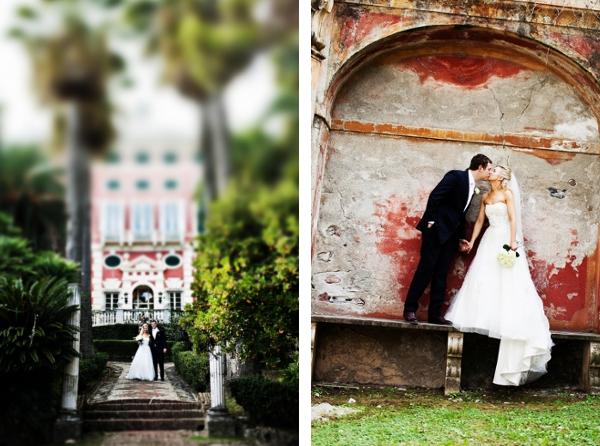 Hochzeit, Villa, Italien, Garten