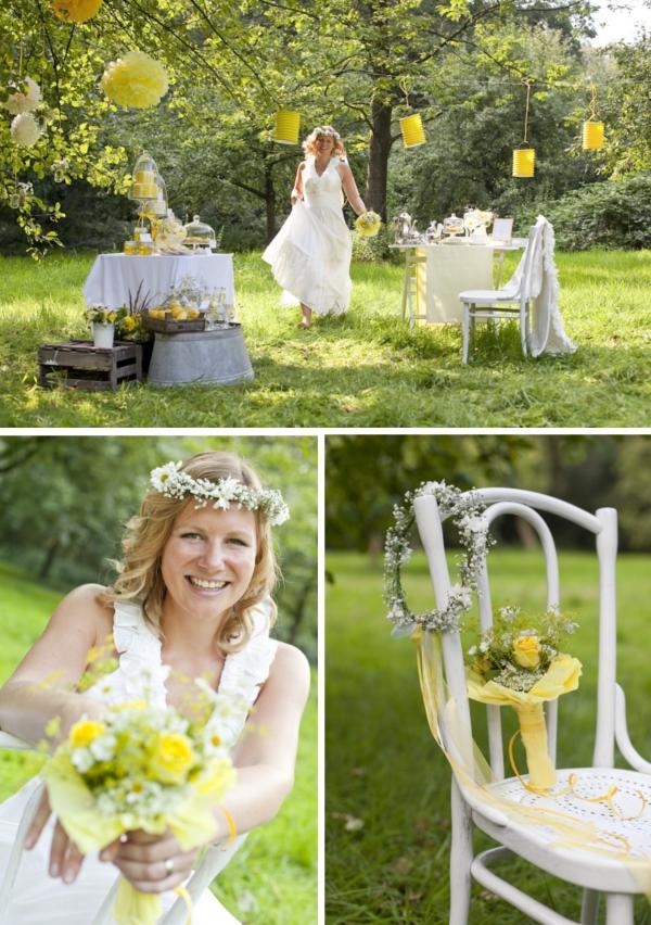 Hochzeit, Braut, Sweet Table, Sommerwiese