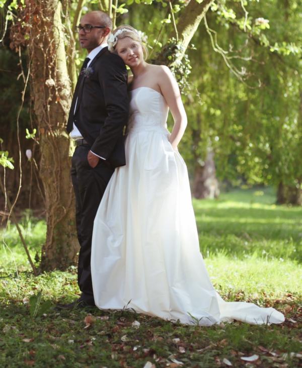Hochzeit, Brautkleid, Weiß zu Schwarz