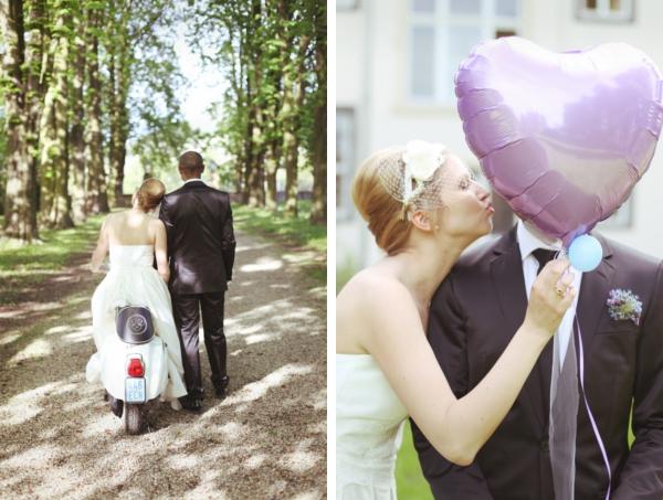 Brautkleid, Weiß zu Schwarz, Hochzeit