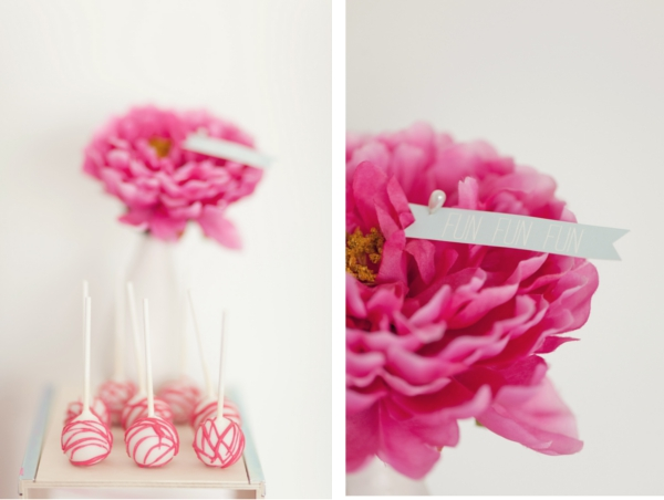Cakepops, Blumendeko, Candy Table, Fun, Pink