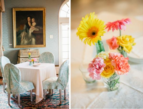 Hochzeit, Tische, Blumenschmuck