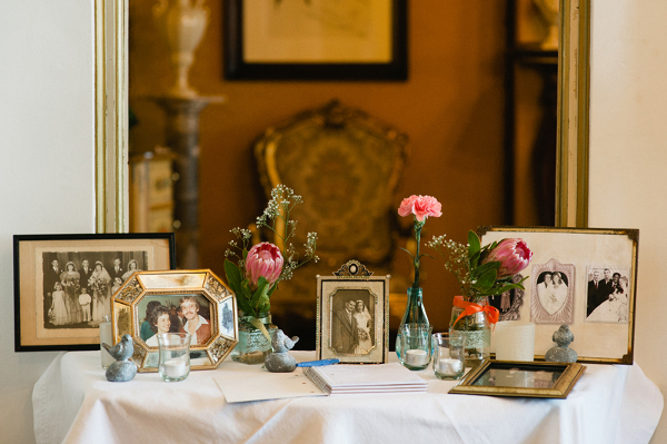 Hochzeit, Dekoration, Familienfotos