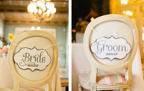 Hochzeit, Braut-Schild, Bräutigam-Schild