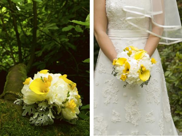 Hochzeit, Verrückt nach Hochzeit, Gasoline, Brautstrauß, gelb-weiß